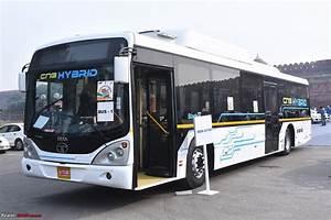 Tata Motors displays Iris Electric and Hybrid bus at FAME ...
