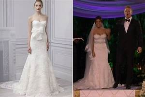 catherine giudici39s monique lhuillier wedding gown tv With catherine lowe wedding dress