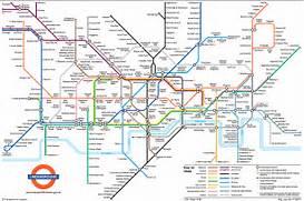 Big Map of London Underground Subway Stations  London Underground Stations