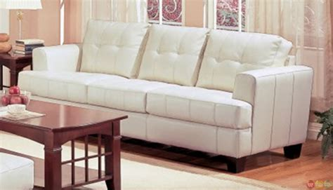 samuel cream bonded leather living room couch  loveseat