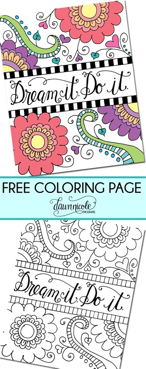 inspiring quote coloring pages  adultsfree printables everythingetsycom
