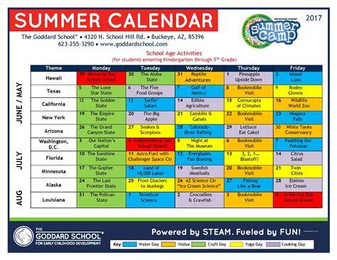summer camp buckeye buckeye az 861 | 2017 Goddard School Buckeye Summer Camp Calendar School Age