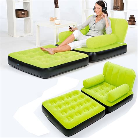 house inflatable pull out sofa couch full double air bed