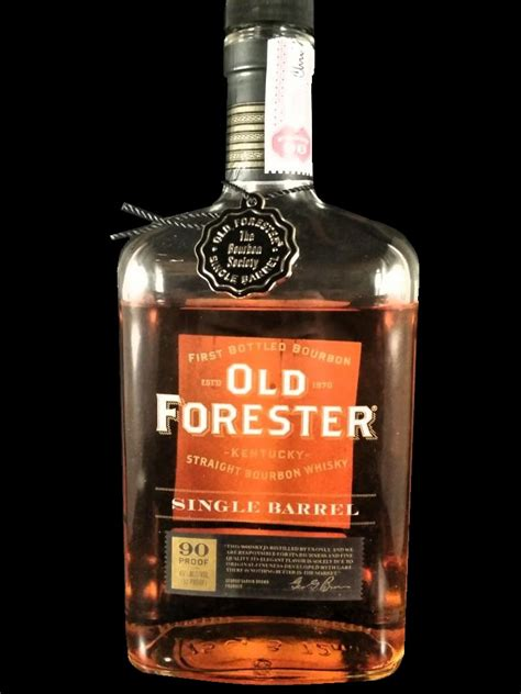 Review: Old Forester Single Barrel - 'The Bourbon Society ...