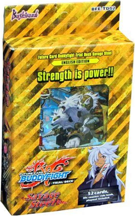 Buddyfight Trial Deck X by Trial Deck 2 Savage Steel Starter Deck Future Card