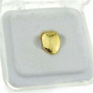 Gold Bottom Single Tooth - Single Grillz