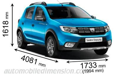 dimensions of dacia cars showing length width and height - Dimension Dacia Sandero
