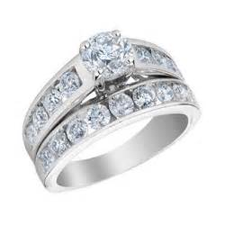 white gold wedding ring sets certified 14k white gold engagement ring and wedding band set
