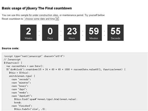final countdown simple date countdown plugin jquery plugins