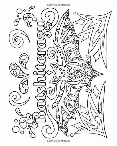 Coloring Adult Quote Printable Funny Colouring Word