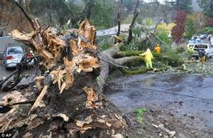 dead  northern california hit  massive storms