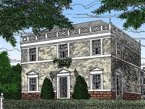 Federal House Plans by Federal Style Home Plan 11619gc Architectural Designs