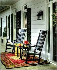 these black rocking chairs make porch rockers