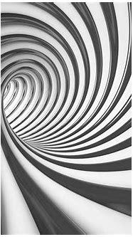 3D Swirl Tunnel Black And White(2173WM) – Tapeedikodu.ee