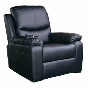 Fauteuil Simili Cuir : fauteuil relax releveur massant chauffant simili cuir 1 moteur inclinaison 3 couleurs vilacosy ~ Teatrodelosmanantiales.com Idées de Décoration