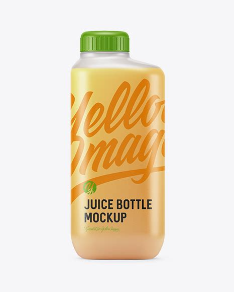 Pouring coffee into the glass with milk and ice. Frosted Plastic Bottle With Orange Juice PSD Mockup ...