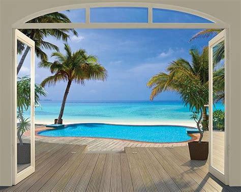 paradise beach wall mural