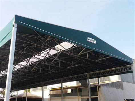capannoni retrattili usati tettoie prefabbricate in ferro usate