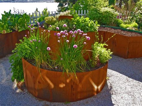 corten steel planters garden design trends with contemporary planters