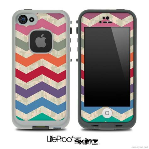 camo lifeproof iphone 5c vintage colorful digital camo chevron pattern for the