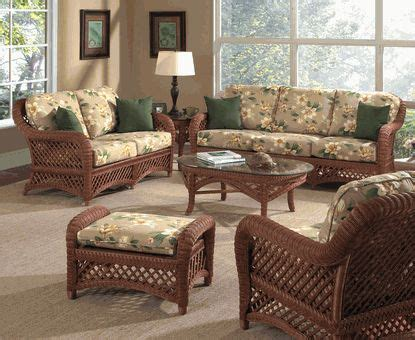 Sunroom Sofa Sets by Brown Wicker Furniture Lanai Wicker Set For Sunroom New