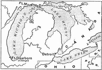 Lakes Coloring Plains Michigan Pages 1812 Maps