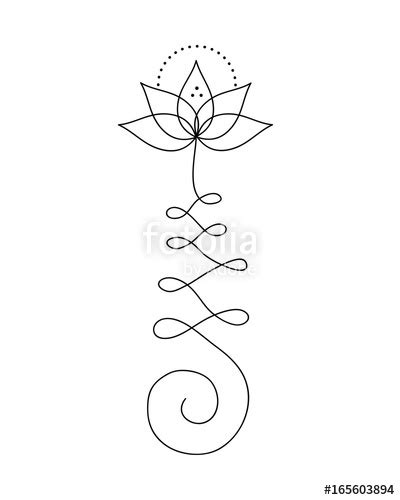 """Symbol Unalome"" Stock image and royalty-free vector files on Fotolia.com - Pic 165603894"