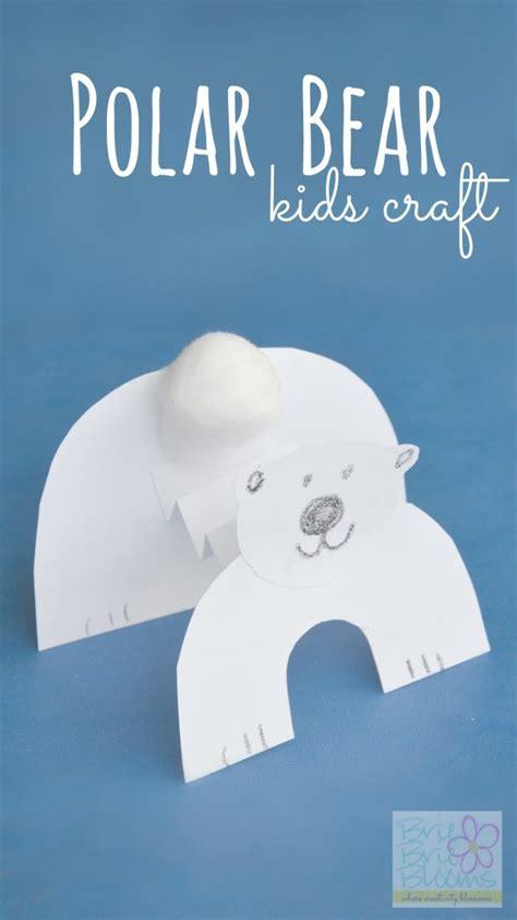 polar bear kids craft  celebrate international polar