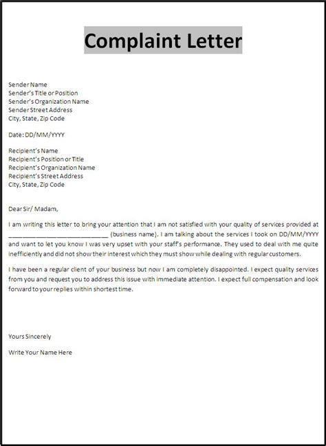 contoh surat balasan complaint letter 12 letters of complaint tarkoya