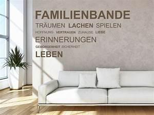 Wandtattoo Sprüche Familie : familienspr che als wandtattoo spruch wandtattoos f r die familie ~ Frokenaadalensverden.com Haus und Dekorationen