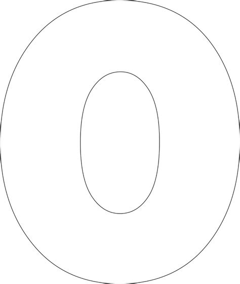 letter o template free printable lower alphabet letter template 42053