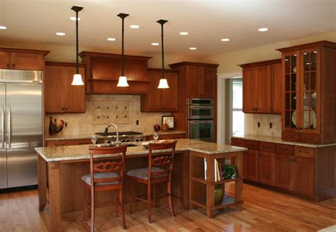 medallion mission transitional contemporary kitchen