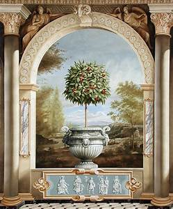 decorative imaging works murals With deco trompe l oeil mural
