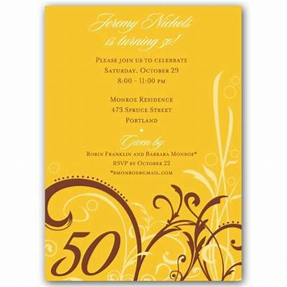 50th Birthday Invitations 80th Gold Cabiri Paperstyle