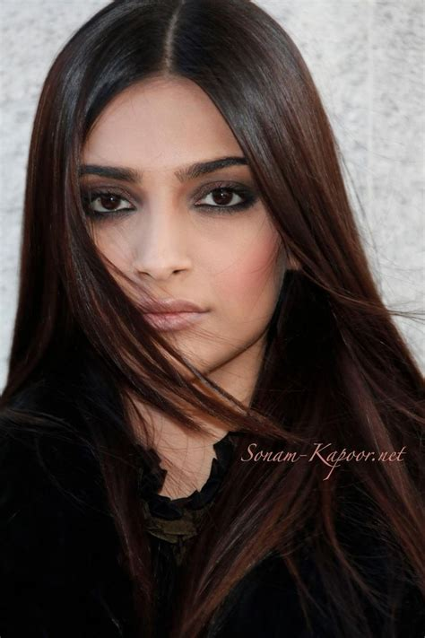 actress with long straight hair quot sonam kapoor quot long sleek brown straight indian hair