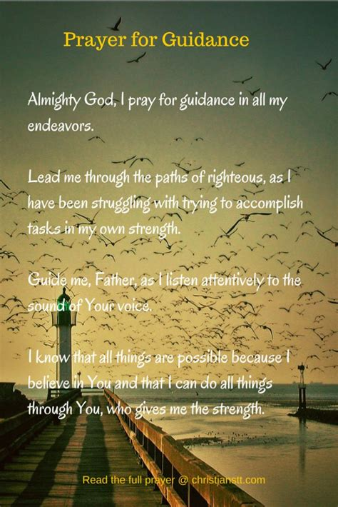 powerful prayer  gods guidance  direction prayer