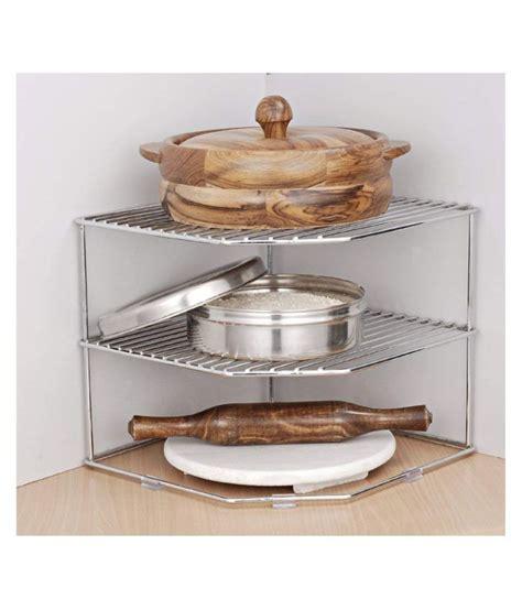 jvs kitchen plate dish corner shelf racksilver      cm buy    price