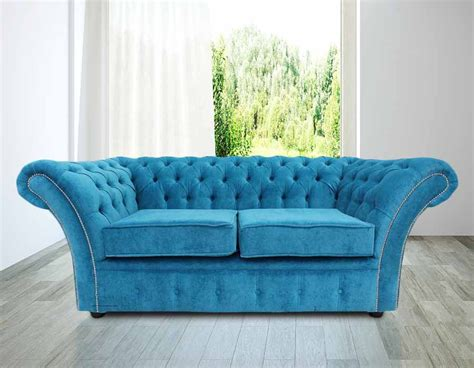 teal settee buy teal fabric chesterfield sofa at designersofas4u