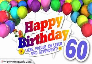 Geburtstagsbilder Zum 60 : bunte geburtstagskarte mit ballons zum 60 geburtstag geburtstagsspr che welt ~ Buech-reservation.com Haus und Dekorationen