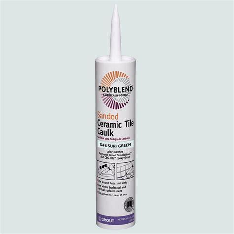 custom building products polyblend 165 delorean gray 10 5 oz non sanded ceramic tile caulk