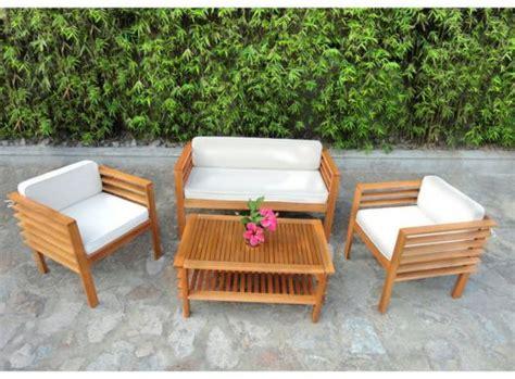 canape leclerc mobilier de jardin en bois pas cher