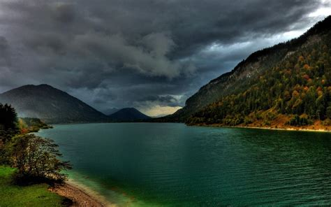 Heavy Clouds Over Mountain Lake Photography  Id 34468