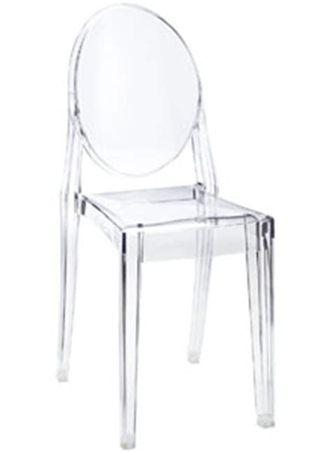 chaise starck transparente ghost chair kartell