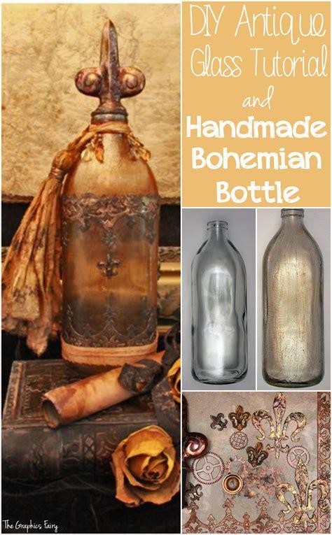 antique glass   bohemian bottle gorgeous