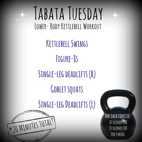tabata kettlebell tuesday workout exercises edition exercise workouts healthy thehealthymaven maven finish legs each info challenge