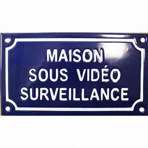 Video Surveillance Maison : plaque de rue maill e de 10x18cm en relief plate faite ~ Premium-room.com Idées de Décoration