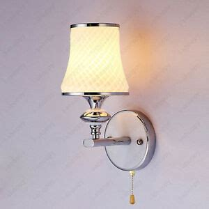 3w led wall sconces fixture light glass lshade pull switch l living room ebay