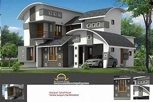 House, Plan, And, Elevation, 2377, Sq, Ft