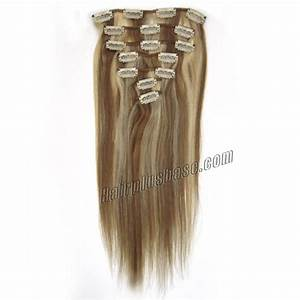 30 Inch 12613 Clip In Remy Human Hair Extensions 9pcs