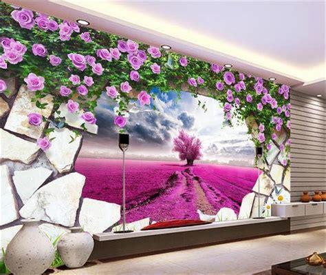 kustom  mural kertas dinding tiga dimensi mural besar